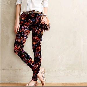 Pilcro | Floral Print Skinny Corduroy Size 31